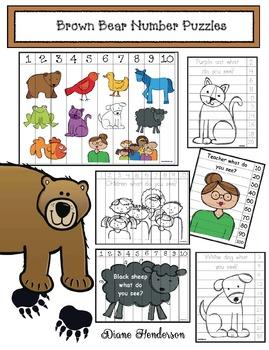 Brown Bear Brown Bear Number Puzzles