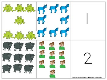 Brown Bear Brown Bear Number, Set and number word matching Game