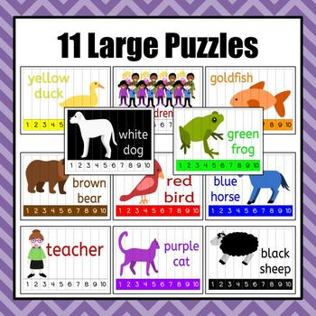 Brown Bear, Brown Bear Number 1-10 Puzzles
