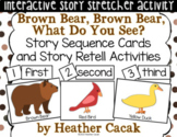 Brown Bear, Brown Bear Story Sequence and Retelling Cards (Math and Literacy)