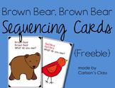 Brown Bear, Brown Bear Sequencing Cards {Freebie}