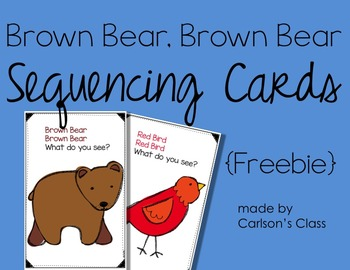 Brown Bear, Brown Bear Sequencing Cards {Freebie}