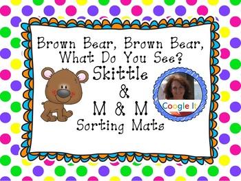 Brown Bear, Brown Bear Skittle and M&M sorting mats