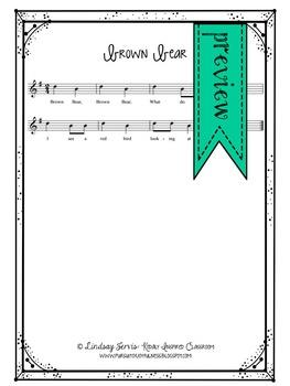 Brown Bear Music Lesson - manipulatives/flashcards