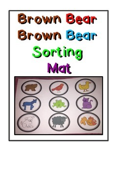 Brown Bear Brown Bear Sorting Mat