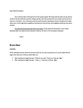 Brown Bear, Brown Bear Speech/Language/Fluency Activities
