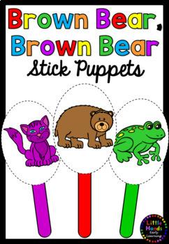 Brown Bear, Brown Bear Story Stick Puppets