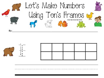 Brown Bear Brown Bear Ten's frame Activity 1-10