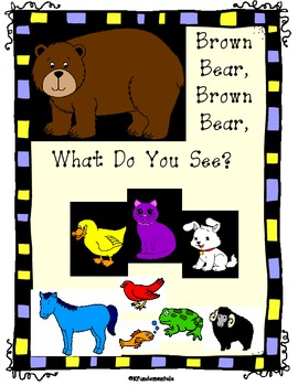 Brown Bear Color Sight Words Fill-in Book (Great for TK , K, or Special Ed)
