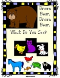 Brown Bear Color Sight Words Fill-in Book (Great for TK ,