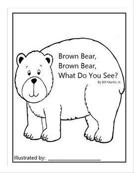 photo relating to Brown Bear Brown Bear Printable Book identify Brown Undertake Guide Template Worksheets Training Products TpT
