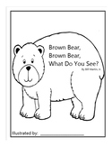 Brown Bear, Brown Bear, What Do You See? Book Template