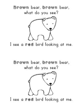 Brown Bear, Brown Bear What Do You See?  Easy Reader