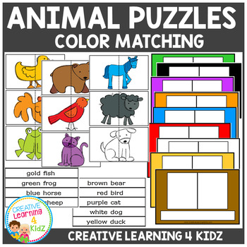 Animal Color Matching Puzzles