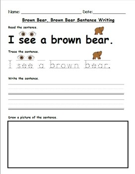 Brown Bear, Brown Bear What Do You See Reader's Theater & Worksheets!