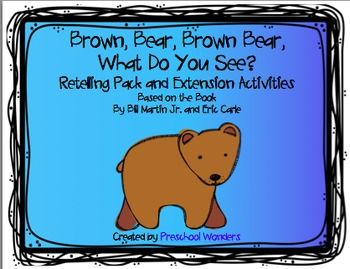 graphic regarding Brown Bear Brown Bear What Do You See Printable Book identify Brown Endure, Brown Undergo, What Do Oneself View? Retelling Pack and Extension Routines