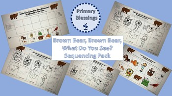 Brown Bear, Brown Bear, What Do You See? Sequencing Pack