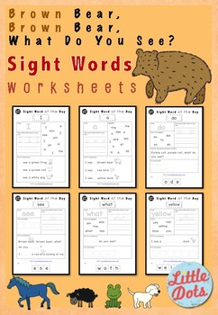 Brown Bear, Brown Bear, What Do You See? Sight Words Worksheets