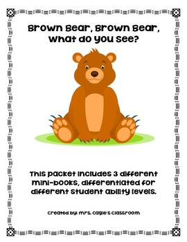 Brown Bear, Brown Bear Differentiated Mini-Books