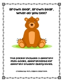 Brown Bear, Brown Bear Differentiated Mini-Books