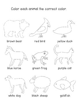 Brown Bear Brown Bear What do you See Picture Perfect Guide