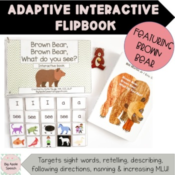 Brown Bear, Brown Bear, What do you see? Interactive Adapted Flip Book (speech)