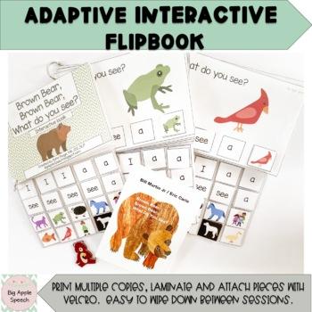 Brown Bear, Brown Bear, What do you see? Interactive Adapted Flip Book (speech)