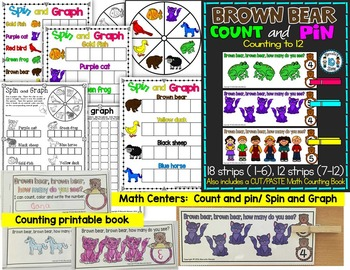 BROWN BEAR Literacy and Math ACTIVITIES for kindergarten