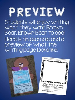 Brown Bear, Brown Bear, Writing Activity
