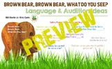 Brown Bear Brown Bear book language audition activity idea