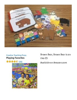 Brown Bear, Brown Bear book to go with Greg & Steve's Playing Favorites CD