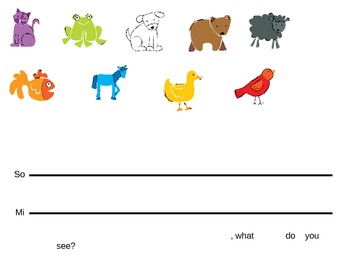Brown Bear, Brown Bear by Eric Carle music lesson for Kindergarten