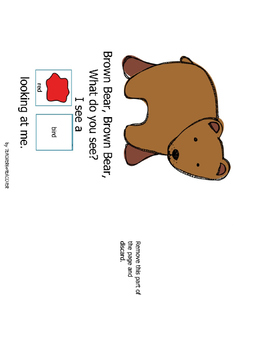 Brown Bear, Brown Bear-inspired Adapted Book and File Folder Games