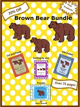 Brown Bear Math and Literacy Centers  Bundle Special Education Preschool