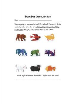 Brown Bear Character Hunt