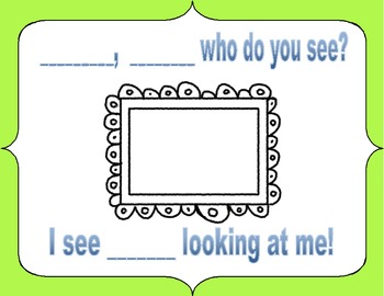 """Brown Bear Class Book based on """"Brown Bear, Brown Bear What do you See?"""""""