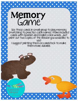Brown Bear Color Memory