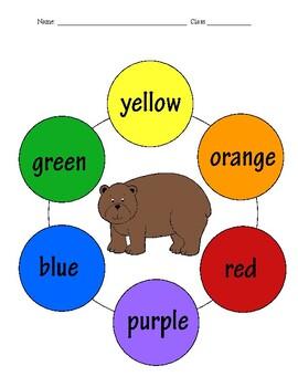 Brown Bear Brown Bear Color Wheel