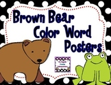 Brown Bear Color Word Posters