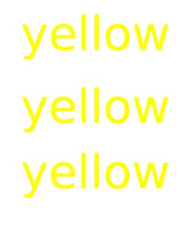 Brown Bear Color Words