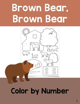 Brown Bear: Color by Number