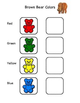 Brown Bear Colors