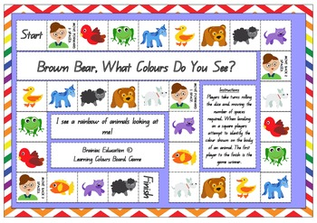 Brown Bear Colour Recognition Game