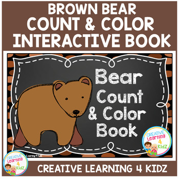 Bear Count & Color Interactive Book