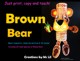 Brown Bear Craft  ::  Brown Bear Activity  ::  Brown Bear Research Project