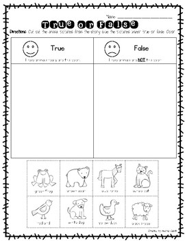 Brown Bear Cut and Paste Activities