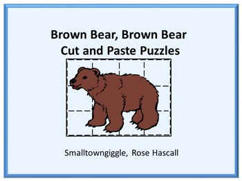 Brown Bear Brown Bear Cut and Paste Puzzles Special Educat