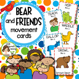 Bear and Friends Movement Cards and Brain Breaks  (Transit