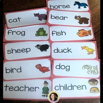 Making Words Brown Bear Writing center