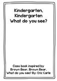 Brown Bear - Eric Carle inspired class book -Kindergarten